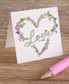 Printable Love and Thanks card. Eat Drink Chic