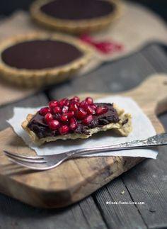 Pomegranate Chocolate Tart