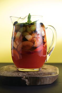 good libations >> stone fruit rose sangria + don't forget ginger. everything's better with ginger.