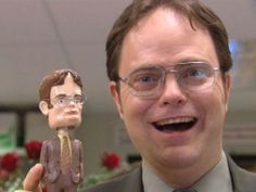 Dwight from the Office (Rainn Wilson) Best Of The Office, The Office Show, The Office Season 2, Angela The Office, Dwight K Schrute, Dwight And Angela, Droopy Dog, Office Jokes, Office Icon