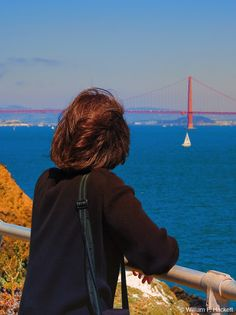 """Touring the Point Bonita Lighthouse with my """"outdoors model,"""" Janet! http://cheshirecatphoto.com/pages/blog/archives/392 Cheshire Cat Photo is """"Your Guide to California's Wonderland!™"""" Image ©2016 William F. Hackett, All Rights Reserved. Shop the Cheshire Cat Photo Gallery for prints (even on metal and canvas) https://cheshirecatphoto.smugmug.com/ and Cheshire Cat Photo Store (for inexpensive merchandise with images of California) http://www.zazzle.com/cheshirkat."""