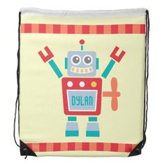 Vintage Cute Robot Toy For Kids  #backtoschool #zazzle