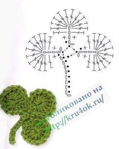 Crochet Flower Patterns Part 1 Crochet Leaf Patterns, Crochet Leaves, Crochet Motifs, Freeform Crochet, Crochet Diagram, Crochet Chart, Crochet Flowers, Crochet Stitches, Mode Crochet