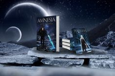 Both book one and two looking pretty great together! Absolutely obsessed with the work KUDI-Design has done! Amnesia, Fantasy Books, Swords, Book Series, Book Covers, My Books, Sci Fi, Romance, Moon