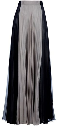 Maison Martin Margiela Gray Pleated Maxi Skirt.