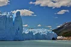 Blue icebergs in Patagonia, Chile