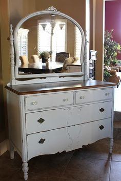 Love dressers with mirrors and the wood top