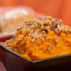 This is a traditional sweet potato favorite made lighter in fat and calories! #Thanksgiving