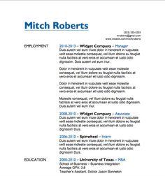 free resume download simple microsoft word format