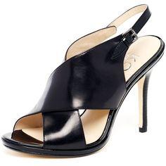 KORS Michael Kors Jove Leather Crisscross Strappy Sandal, Black ❤ liked on Polyvore