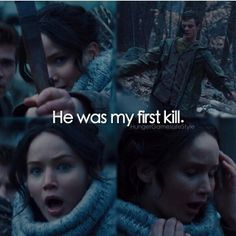 Actually her first kill wasn't a person she killed at all. Her first kill was Peeta. She had him at her mercy the day they went to kindergarten when she sang that song.