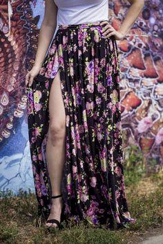 DIY Pleated Maxi Skirt