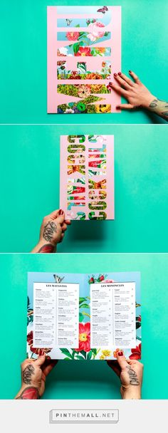 Art of the Menu: Batinse. Menu Layout, Poster Layout, Poster Ideas, Mexican Party, Mexican Style, Invitation Cards, Invitations, Food Branding, Vegan Menu