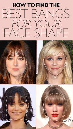 """The answer to """"Should I get bangs?"""" # Hairstyles with bangs These Are the Best Bangs for Every Face Shape, According to Stylists How To Cut Bangs, Long Hair With Bangs, Haircuts With Bangs, Cut Side Bangs, How To Style Bangs, Haircut For Long Face, Round Face Haircuts Long, Long Hair Fringe, Haircut For Round Face Shape"""