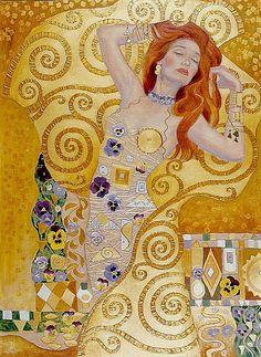 18 more ideas for your klimt board - Inbox - 'Yahoo Mail' Gustav Klimt, Klimt Art, Art And Illustration, Art Expo, Portrait Art, Oeuvre D'art, Figurative Art, Love Art, Amazing Art