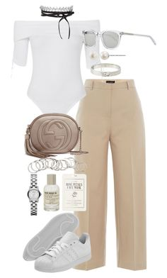 """Untitled #1041"" by marissa-91 ❤ liked on Polyvore featuring Piazza Sempione, Topshop, Gucci, adidas, Yves Saint Laurent, Forever 21, Le Labo, Michael Kors, H&M and Marc by Marc Jacobs"