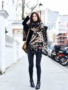 Wondering how to wear your scarf? See how our favorite street style stars are doing it and then shop our favorites.