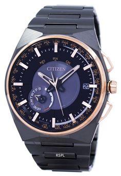 Citizen Eco-Drive Satellite Wave Perpetual Calendar Japan Made CC2004-59E Men's Watch