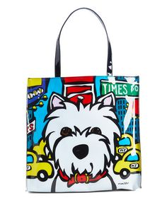 This White & Red Westie Tote is perfect! #zulilyfinds