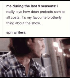 """Ok but the spn writers like to make is believe they died but we're like """"Oh come on you've done this so many times"""""""