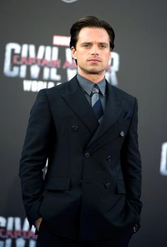 Sebastian Stan attends the premiere of Marvel's 'Captain America: Civil War' at Dolby Theatre on April 12, 2016