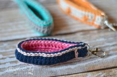 FREE Crochet Pattern: Crochet Key Fob | Keep your keys handy with this useful and fun crochet key fob. The clip make it easy to attach to your keyring.