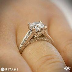 Unique Modern Diamond Engagement Rings | Ritani Modern Graduated Diamond Engagement Ring | 2077