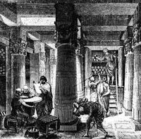 """Library of Alexandria: The most famous library of Classical antiquity. It formed part of the research institute at Alexandria in Egypt that is known as the Alexandrian Museum (Mouseion, """"shrine of the. Library Of Alexandria, Alexandria Egypt, Fine Art Prints, Canvas Prints, Framed Prints, Classical Antiquity, Thinking Day, Photographic Prints, Poster Size Prints"""
