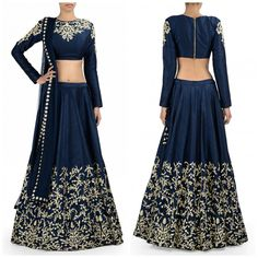 Title		: Blue coloured designer embroidred lehenga choli with matching dupatta for woman Color		: Blue Fabric		: Raw silk Type		: Embroidered Occasion	: Festive, Wedding, Ceremony, Party Neck Type	: Close Neck Sleeve Type	: Full Sleeve Price HQ	: 3650/- For orders / enquiry WhatsApp @ +91-9311187463 you can also Visit our website : http://www.suit-sarees.com