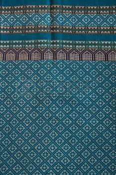 modern thai art: closeup pattern texture of general traditional thai style native handmade  fabric weave