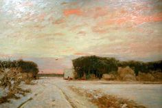 Hans am Ende - Winter in Worpswede. This is such a poor representation. Actual painting has incredible lighting. My absolute fave.