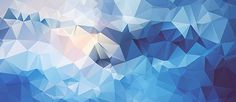 Low poly abstract background, blue.