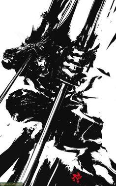 Впечатляющие иллюстрации воинов-самураев