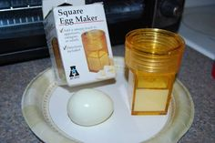 Stuff we wish we had (or, in the case of the Square Egg Maker, stuff we used to have).