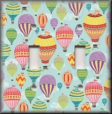 Light Switch Plate Cover - Hot Air Balloons In The Sky - Travel Home Decor