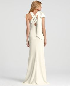 Ann Taylor - AT Weddings View All - Vanessa Bow Back Wedding Dress
