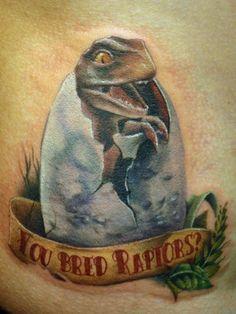 Sweet Jurassic Park tattoo