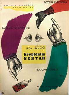 #art Rare Vintage Poster Polish Film - Kryptonim Nektar, c. 1963, by Eryk Lipiński please retweet
