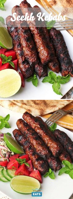 Kebabs: The Grilled, Spiced Pakistani Meat-on-a-Stick of Your Dreams Spiced Pakistani beef or lamb kebabs, perfect for your next cookout.Spiced Pakistani beef or lamb kebabs, perfect for your next cookout. Seekh Kebabs, Seekh Kebab Recipes, Lamb Kebabs, Kabob Recipes, Barbecue Recipes, Grilling Recipes, Beef Recipes, Cooking Recipes, Beef Seekh Kabab Recipe