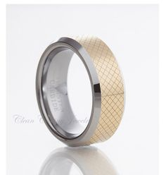 Personalized Engraved Tungsten Carbide by CleanCastingJewelry