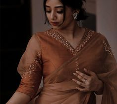 New Saree Blouse Designs, Blouse Designs High Neck, Blouse Designs Catalogue, Simple Blouse Designs, Stylish Blouse Design, Bridal Blouse Designs, Designer Blouse Patterns, Designs For Dresses, Couture