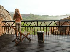 Big Cave Camp in Zimbabwe's Matobo National Park is a rugged lodge that is perfect to explore ancient rock art & the area's large leopard population. Victoria Falls, Zimbabwe, Africa Travel, Rock Art, Just Go, Cave, Traveling By Yourself, Safari, Swimming Pools