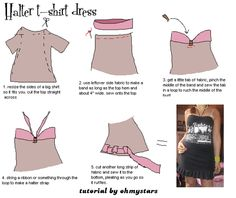 from t-shirt to halter dress