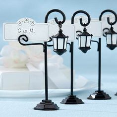 City Street Light Place Card Holders