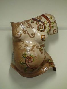 HJ Gillespie Painted Swirls belly cast by www-bellyoflove-com-au, via Flickr