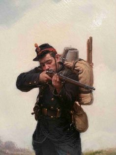 Paul Grolleron French 19th.Century Infantryman Oil Painting