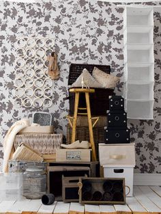Storage solutions: Keep clutter under control by storing it in pretty boxes or functional trays