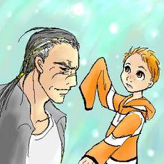 Nemo and Gill by shibu on DeviantArt Gender Swap, Finding Nemo, Disney Stuff, Dory, Pixar, Childhood Memories, Disney Characters, Fictional Characters, Cartoons