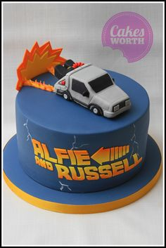 Back to the Future cake. These films are still loved by young and old alike and this can was done for two brothers who are big fans. x