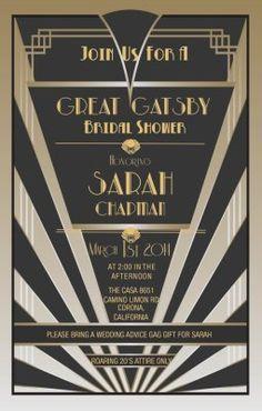 Great Gatsby Party Invitation Template Elegant Items Similar to Great Gatsby Invitations Great Gatsby Prom, Great Gatsby Theme, Gatsby Themed Party, Great Gatsby Invitation, Wedding Invitation Templates, Invitation Wording, Party Invitations, Gala Invitation, Invites